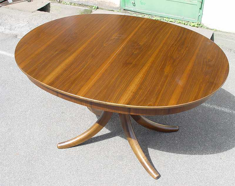 60er 70er tisch esstisch teakholz alma ausziehbar ebay. Black Bedroom Furniture Sets. Home Design Ideas