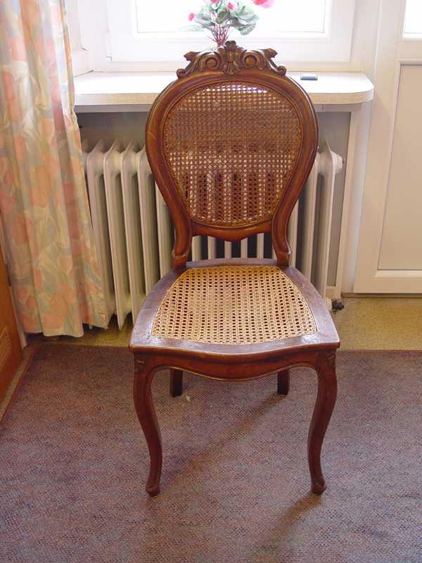 louis philippe stuhl in nussbaum ebay. Black Bedroom Furniture Sets. Home Design Ideas