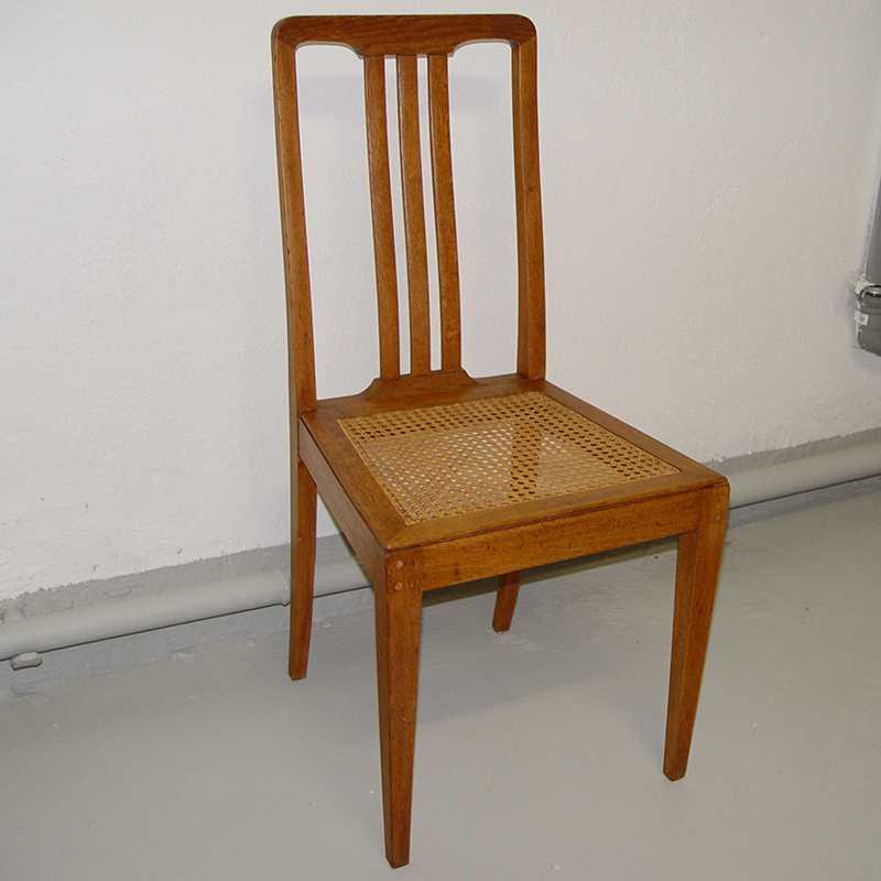 jugendstil art deco stuhl geflecht eiche massiv ebay. Black Bedroom Furniture Sets. Home Design Ideas